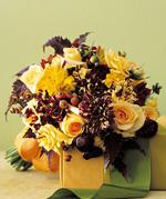 Свадебные букеты из оранжевых цветов